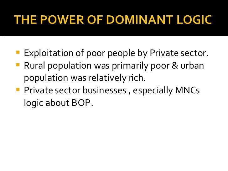 <ul><li>Exploitation of poor people by Private sector. </li></ul><ul><li>Rural population was primarily poor & urban popul...