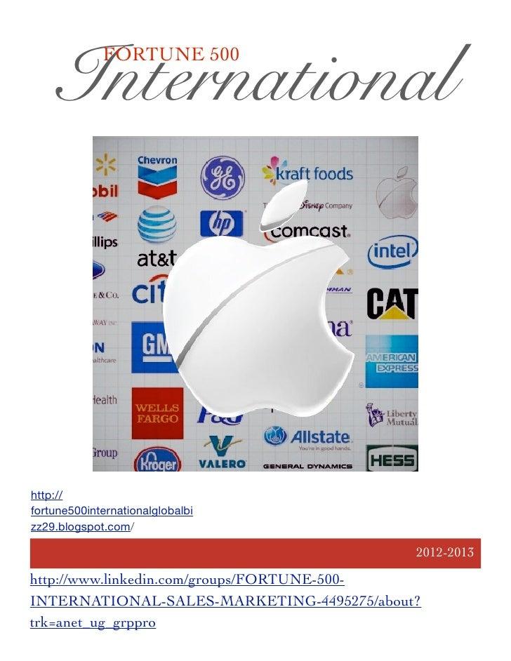 International             FORTUNE 500http://fortune500internationalglobalbizz29.blogspot.com/                             ...