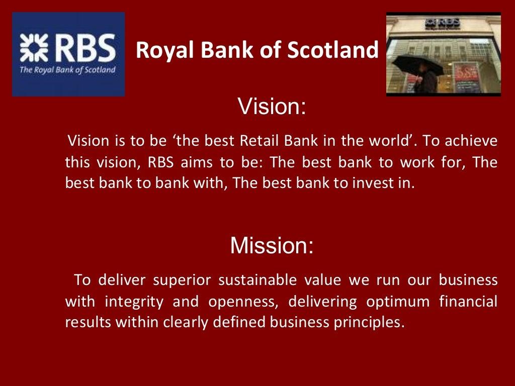 Royal Bank of Scotland Vision: