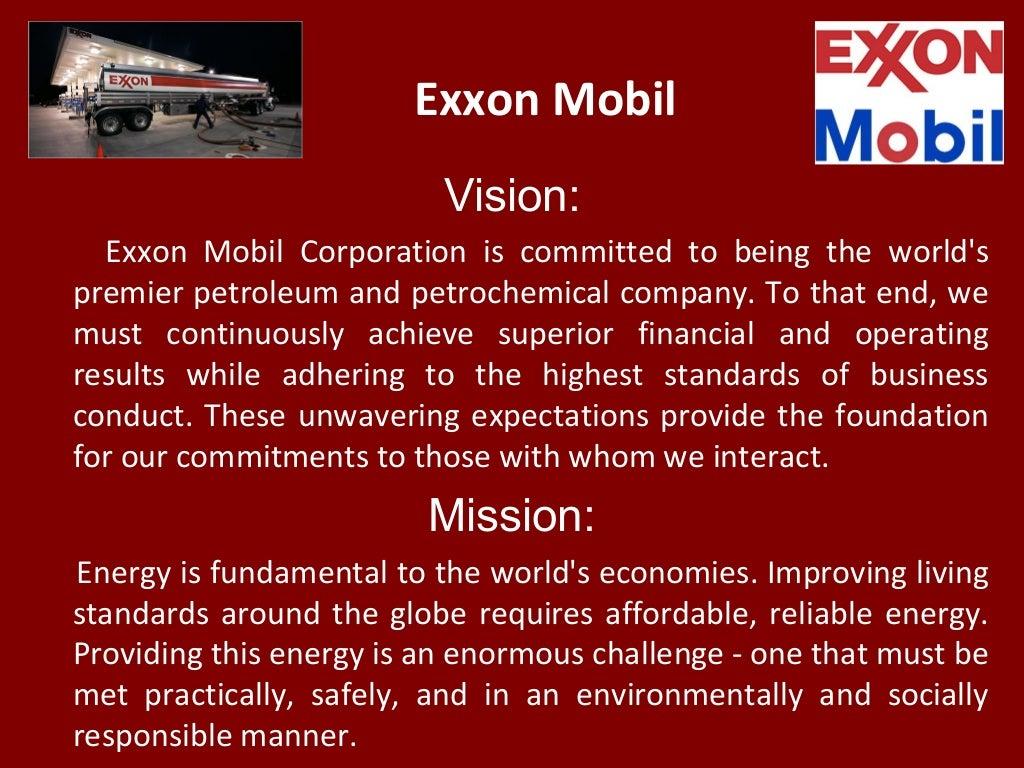 Exxon Mobil Vision: Exxon Mobil
