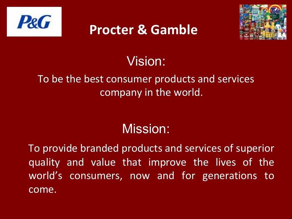 Procter Gamble Vision To