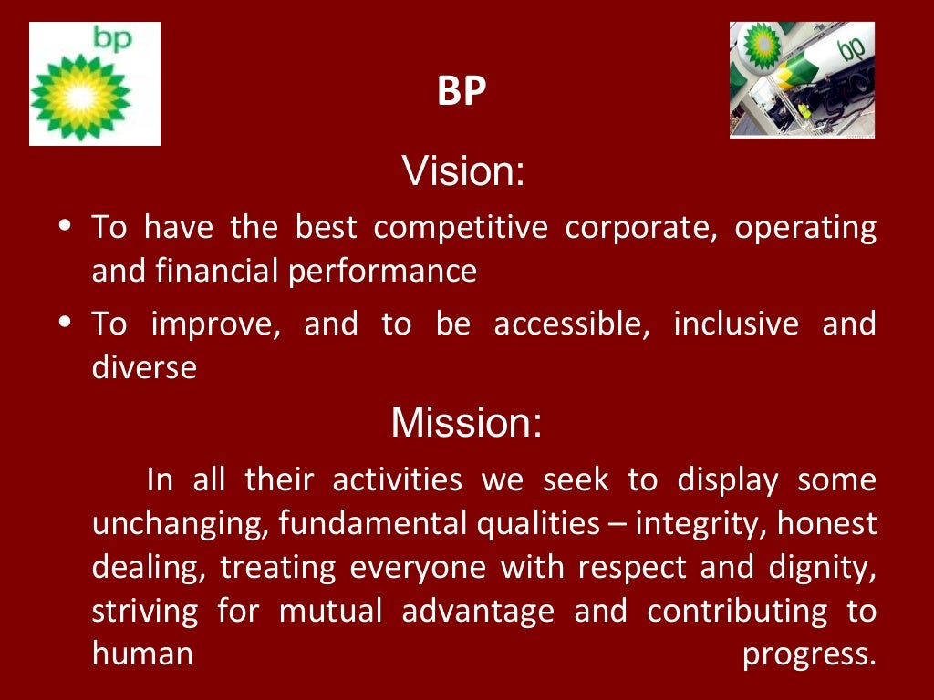 Bp vision to have for Vision industries group