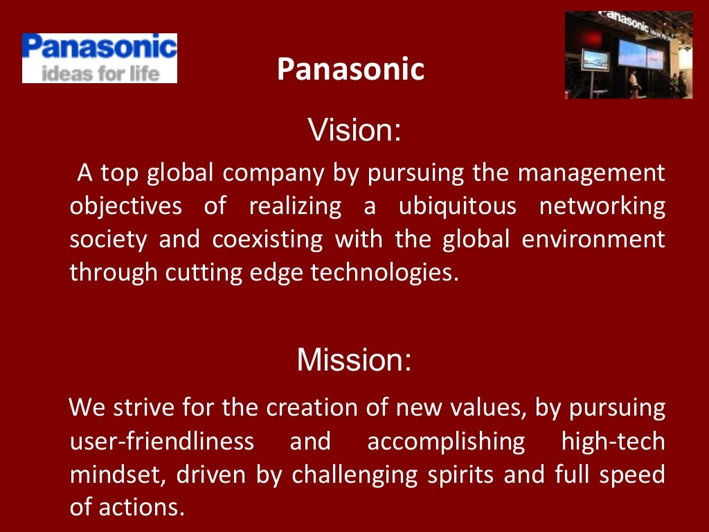 panasonic vision: a top global
