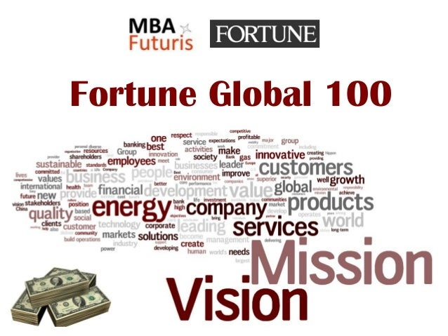 Visions missions of fortune global 100 for Vision industries group