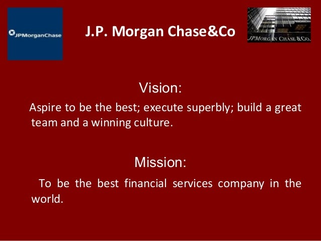 jp morgan mission statement