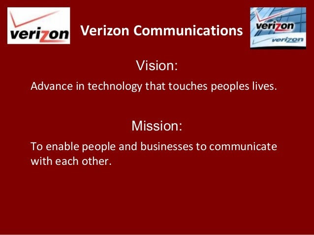 Verizon Communications Vision: Advance in
