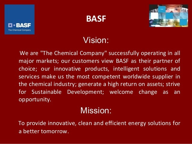 "BASF Vision: We are ""The"
