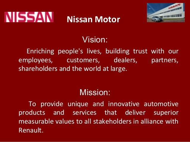 nissan motor vision  enriching people u0026 39 s