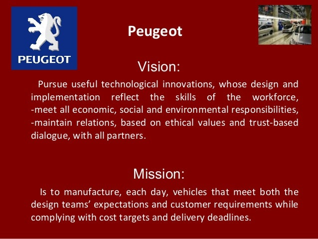 peugeot vision  pursue useful technological