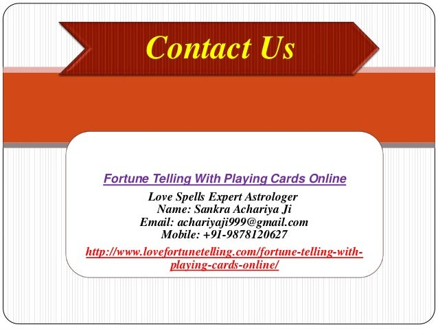 Fortune telling with playing cards online,9878120627