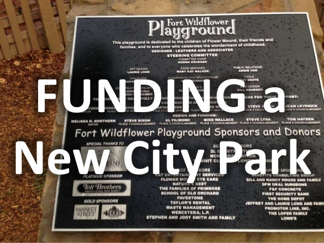 FUNDING aNew City Park