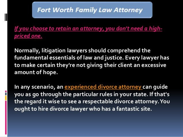 If you choose to retain an attorney, you don't need a high- priced one. Normally, litigation lawyers should comprehend the...