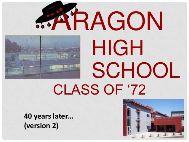 "ARAGON                  HIGH                  SCHOOL        CLASS OF ""7240 years later…(version 2)"