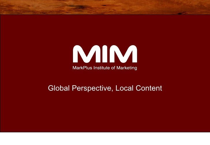 Global Perspective, Local Content