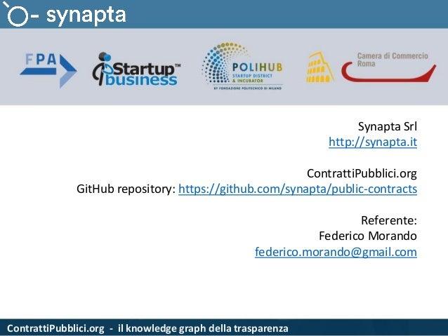 ContrattiPubblici.org - il knowledge graph della trasparenza Synapta Srl http://synapta.it ContrattiPubblici.org GitHub re...