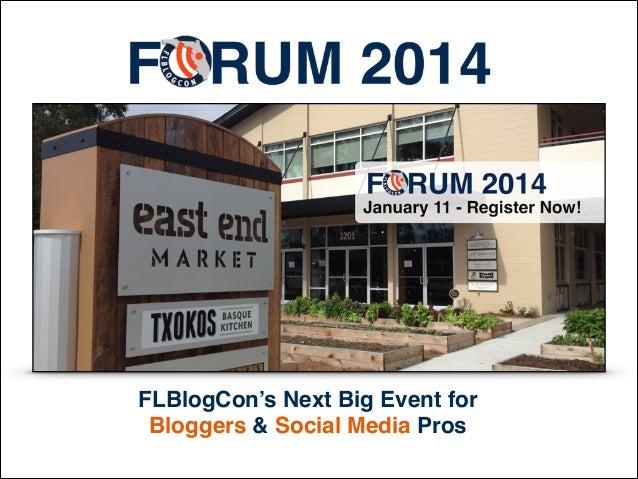 FLBlogCon's Next Big Event for Bloggers & Social Media Pros