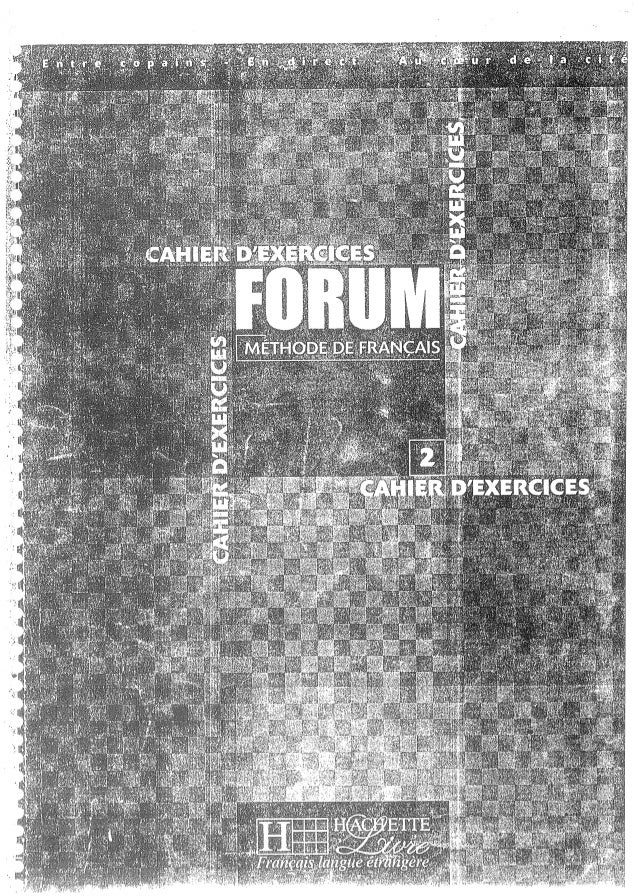 Forum cahier de exercises 2