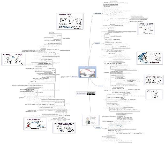 """Mind Map créée par Chris Delepierre sous licence : au service de la vision ensemble""""devenons des intermittents de nos méti..."""