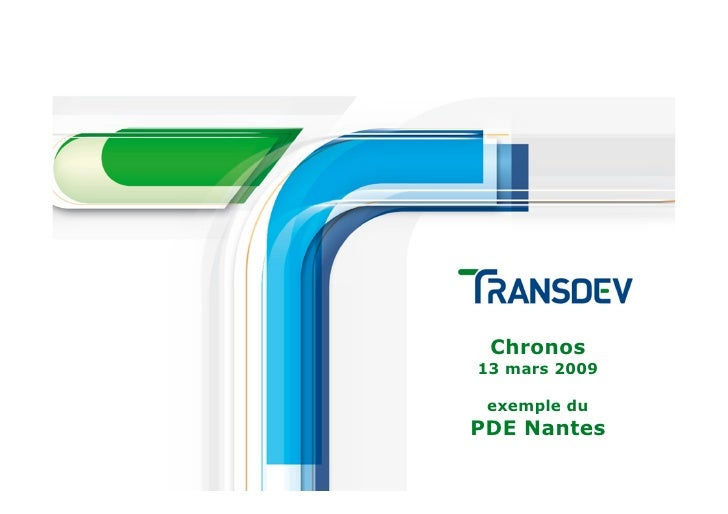 Chronos 13 mars 2009   exemple du PDE Nantes