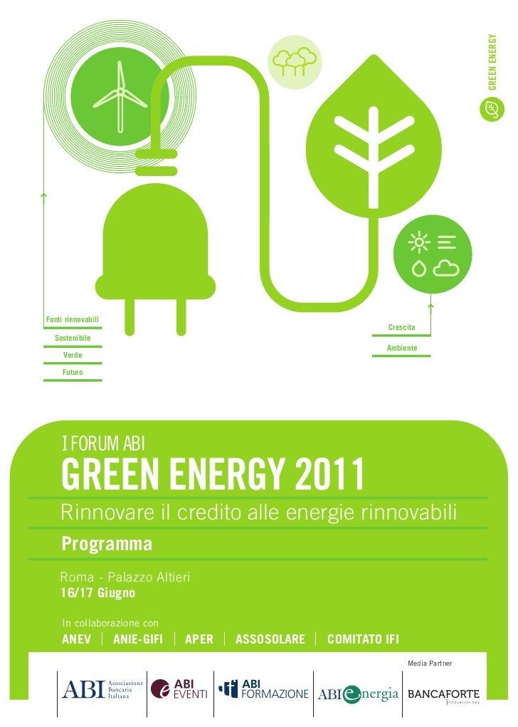 GREEN ENERGYFonti rinnovabili                                                              Crescita  Sostenibile          ...