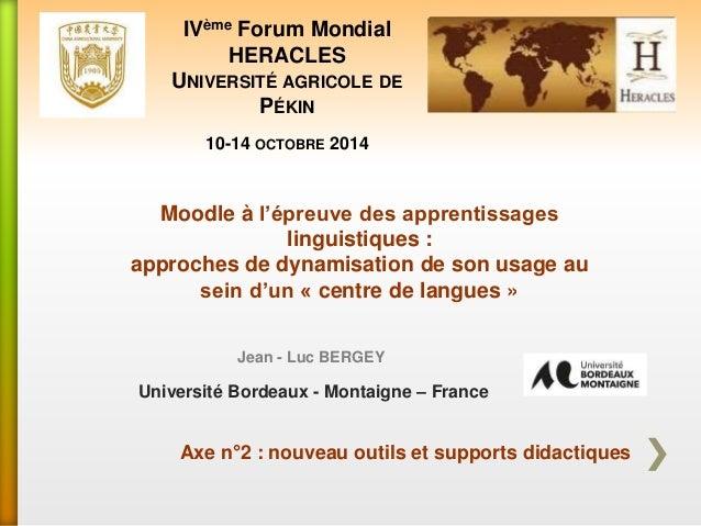 Moodle à l'épreuve des apprentissages linguistiques : approches de dynamisation de son usage au sein d'un « centre de lang...