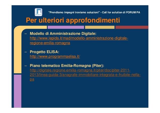 """""""Prendiamo impegni troviamo soluzioni"""" - Call for solution di FORUM PA – Modello di Amministrazione Digitale: http://www.l..."""
