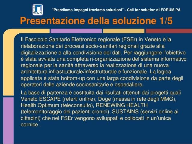 Il Fascicolo Sanitario Elettronico regionale (FSEr) veneto Slide 3