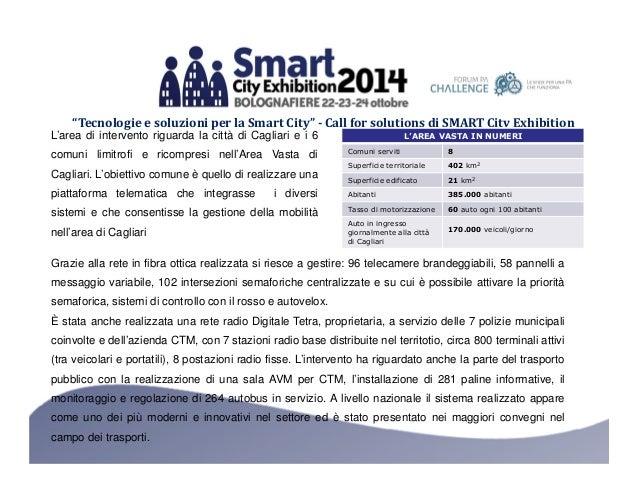 """""""Tecnologie e soluzioni per la Smart City"""" - Call for solutions di SMART City Exhibition  L'AREA VASTA IN NUMERI  Comuni s..."""