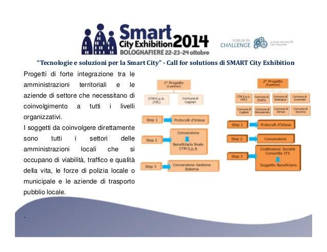 """""""Tecnologie e soluzioni per la Smart City"""" - Call for solutions di SMART City Exhibition  Progetti di forte integrazione t..."""