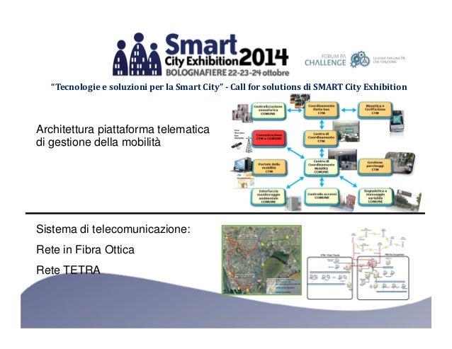 """""""Tecnologie e soluzioni per la Smart City"""" - Call for solutions di SMART City Exhibition  Architettura piattaforma telemat..."""