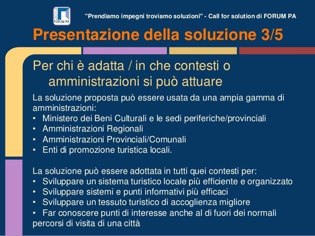 """""""Prendiamo impegni troviamo soluzioni"""" - Call for solution di FORUM PA Per chi è adatta / in che contesti o amministrazion..."""