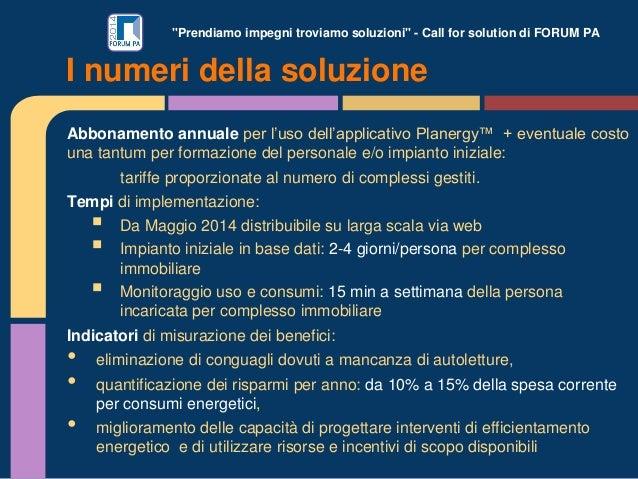 """""""Prendiamo impegni troviamo soluzioni"""" - Call for solution di FORUM PA Abbonamento annuale per l'uso dell'applicativo Plan..."""