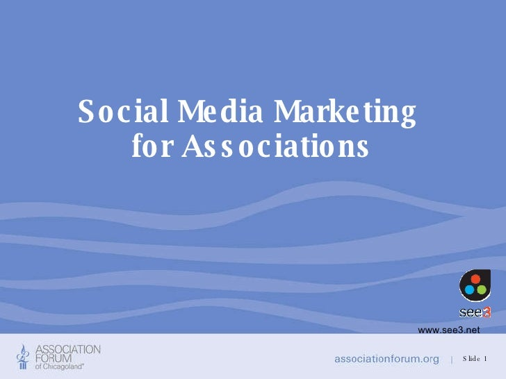 Social Media Marketing  for Associations Slide  www.see3.net