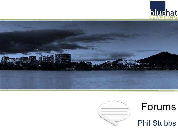 Forums Phil Stubbs