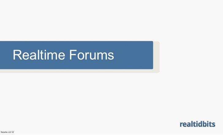 Realtime Forumsforums v2.12