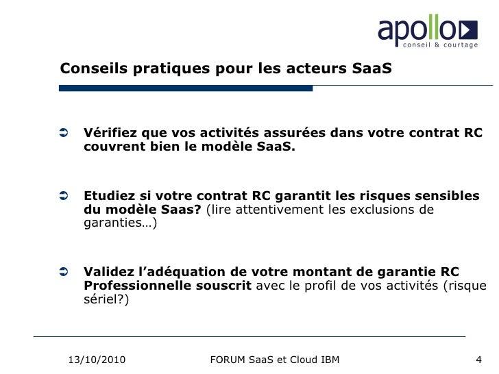 Enjeux Assurance Rc Saas Et Cloud