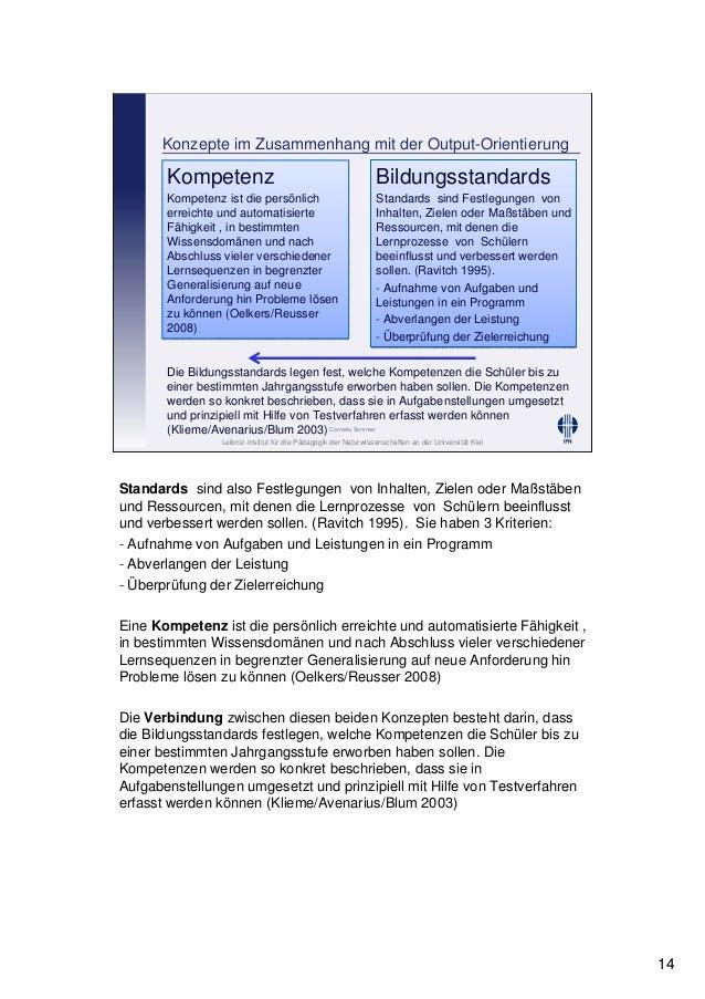 Leibniz-Institut für die Pädagogik der Naturwissenschaften an der Universität Kiel Cornelia Sommer Konzepte im Zusammenhan...