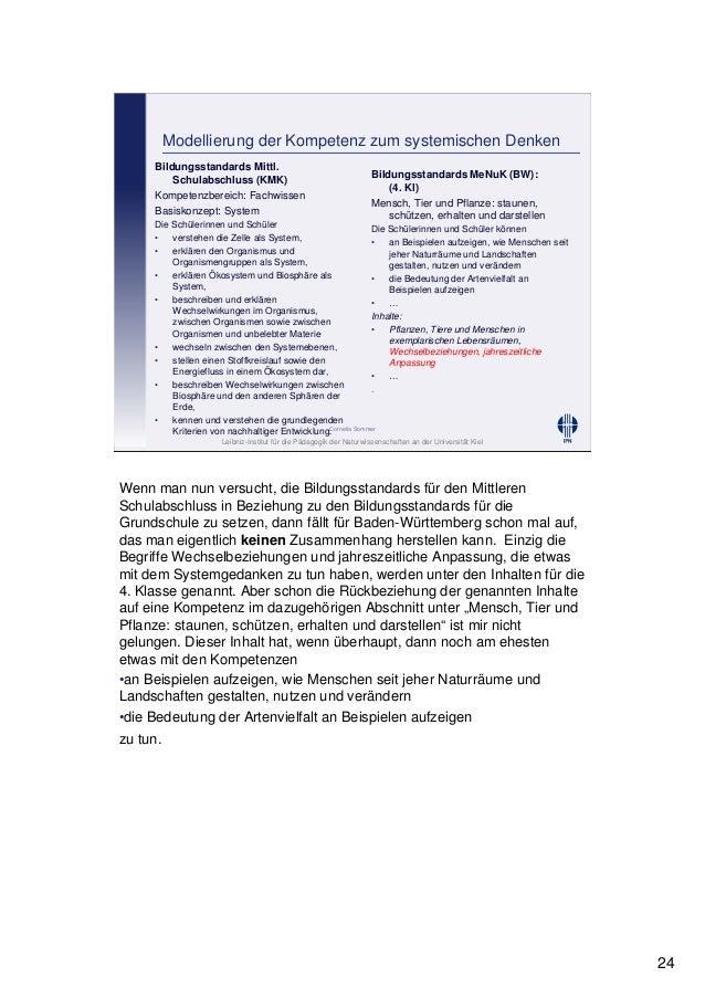Leibniz-Institut für die Pädagogik der Naturwissenschaften an der Universität Kiel Cornelia Sommer Modellierung der Kompet...