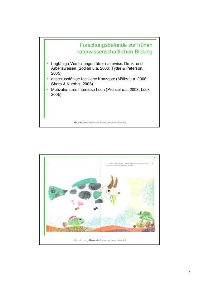 4 Forschungsbefunde zur frühen naturwissenschaftlichen Bildung tragfähige Vorstellungen über naturwiss. Denk- und Arbeitsw...