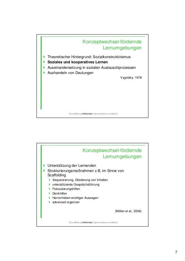 7 Theoretischer Hintergrund: Sozialkonstruktivismus Soziales und kooperatives Lernen Auseinandersetzung in sozialen Austau...