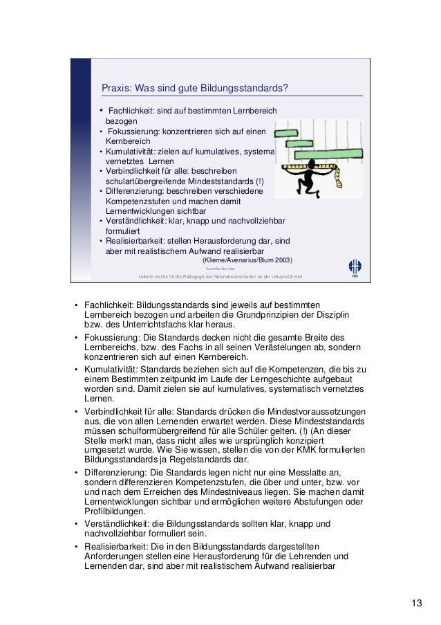 Leibniz-Institut für die Pädagogik der Naturwissenschaften an der Universität Kiel Cornelia Sommer Praxis: Was sind gute B...