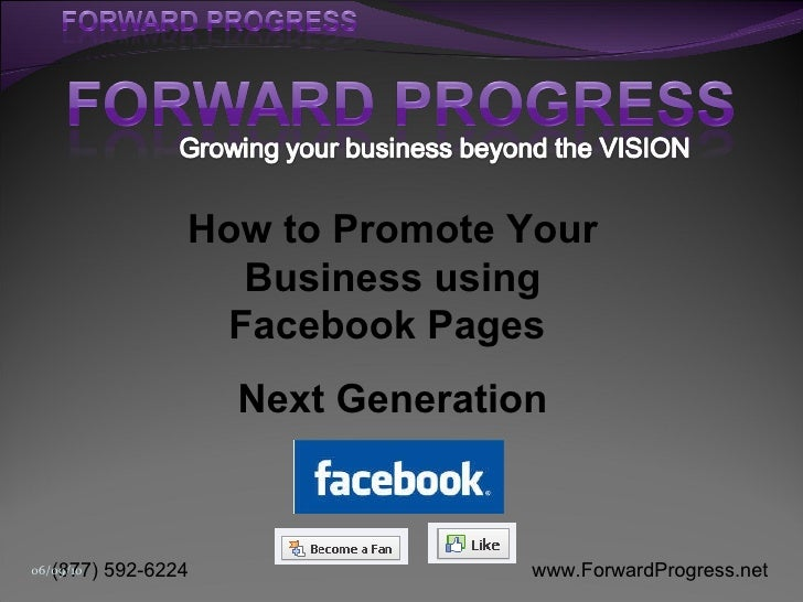 How to Promote Your Business using Facebook Pages  Next Generation