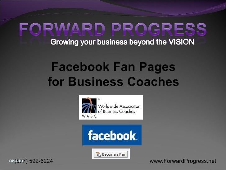 Facebook Fan Pages for Business Coaches