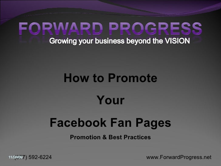 How to Promote Your Facebook Fan Pages Promotion & Best Practices