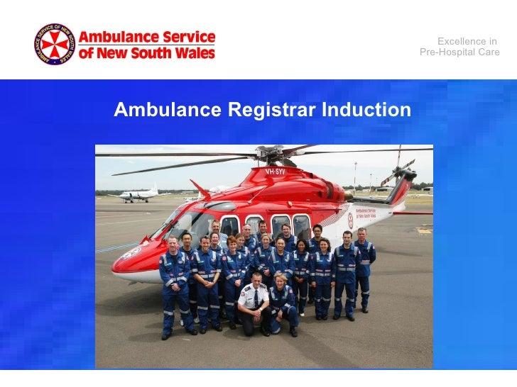 Ambulance Registrar Induction