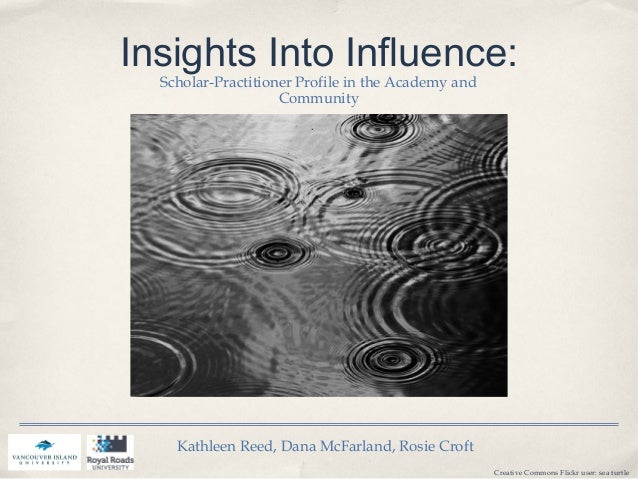 Insights Into Influence: Scholar-Practitioner Profile in the Academy and Community Kathleen Reed, Dana McFarland, Rosie Cr...