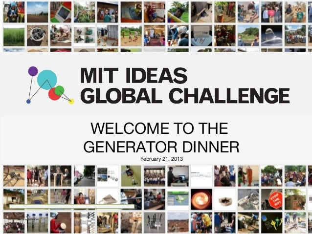 WELCOME TO THE                        GENERATOR DINNER                             February 21, 2013Oct 16, 2012Fall Gener...