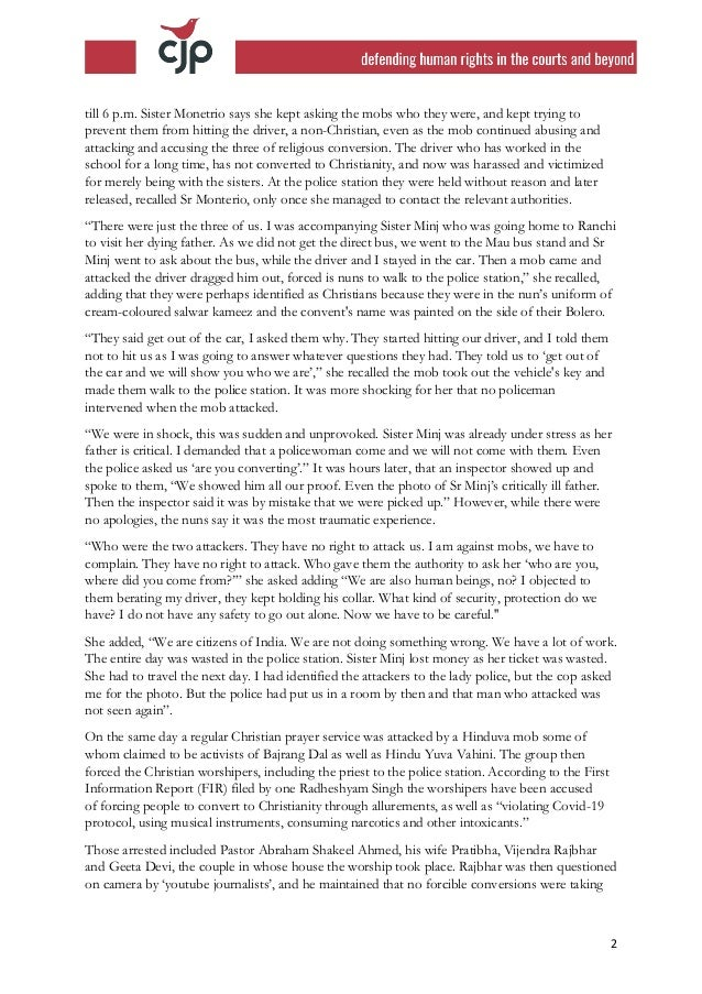 For website 211013  cjp ncm complaint over nun attacks to vice chairman (1) Slide 2