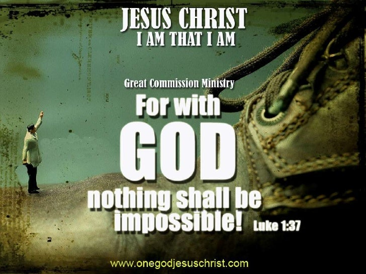 """with god nothing is impossible essay Quotes collection best nothing is impossible quotes selected by thousands of  our users  report audrey hepburn quote: nothing is impossible, the word itself  says 'i'm  """"mary mcleod bethune: building a better world : essays and  selected documents"""", p60, indiana university press  nothing is impossible  with god."""