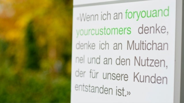 What «Excellence in Multichannel Busi  ness» means and how organisations can  successfully and independently deliver  Mult...